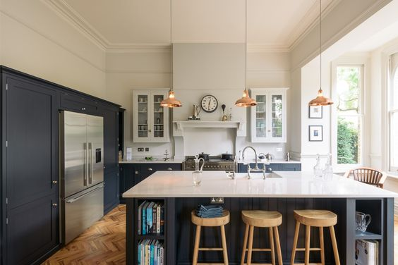 The Love For A  Navy Kitchen